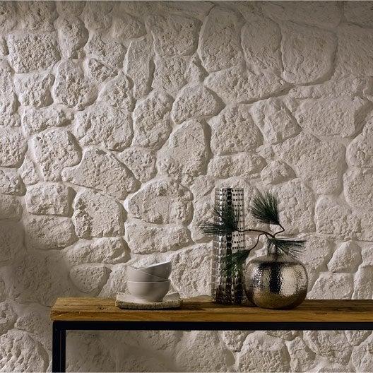 Plaquette de parement plâtre beige Luberon