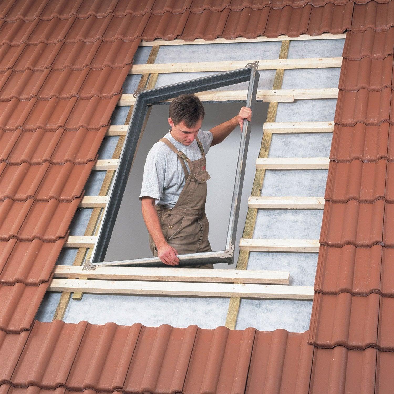 bloc isolant encastr pour fen tre de toit velux bdx ck04 0000f gris leroy merlin. Black Bedroom Furniture Sets. Home Design Ideas
