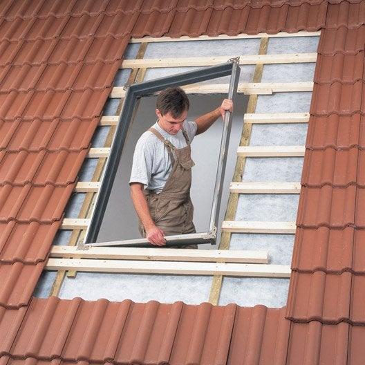 bloc isolant encastr pour fen tre de toit velux bdx mk04 0000f gris leroy merlin. Black Bedroom Furniture Sets. Home Design Ideas