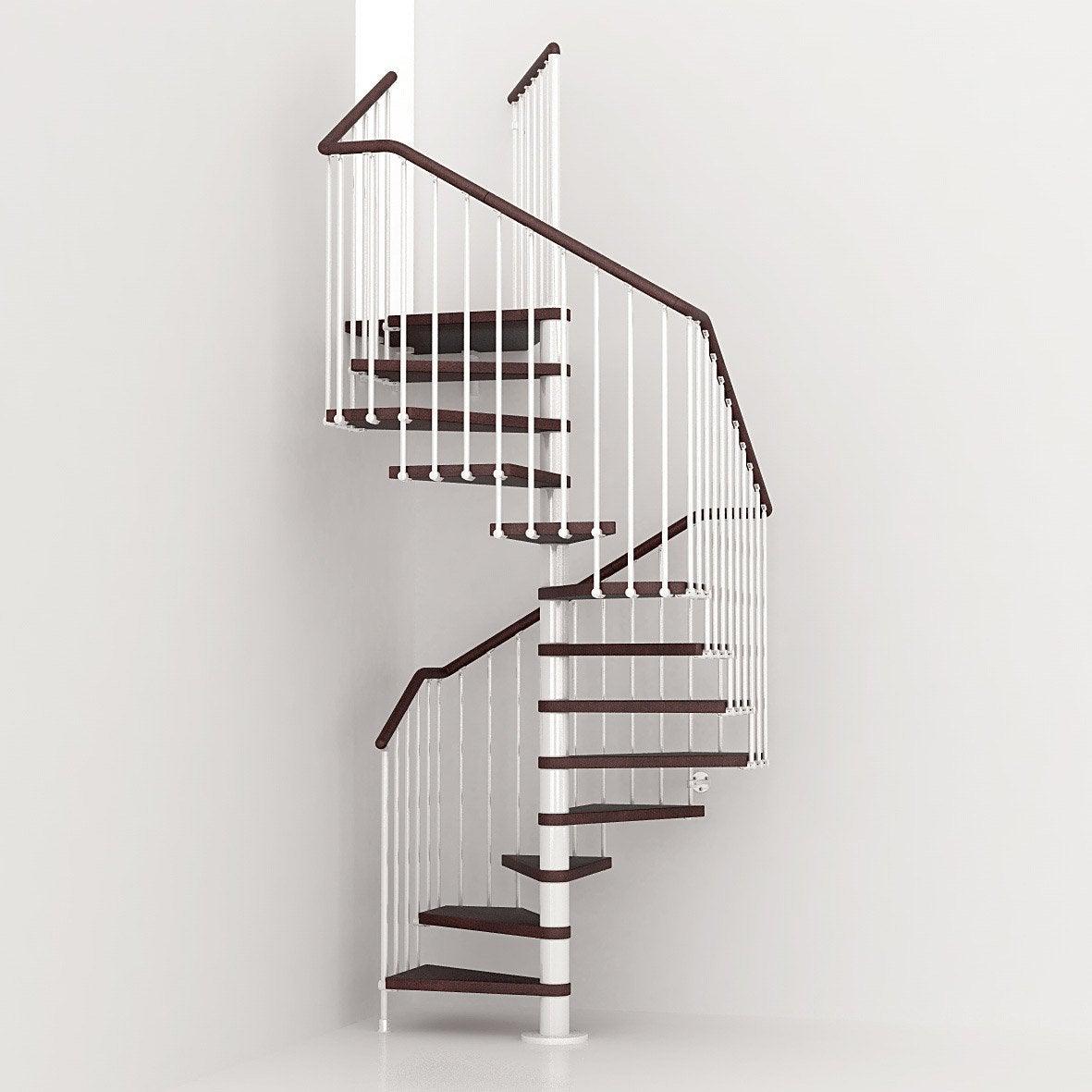 Escalier Colimacon Carre Cube Structure Metal Marche Bois Leroy Merlin