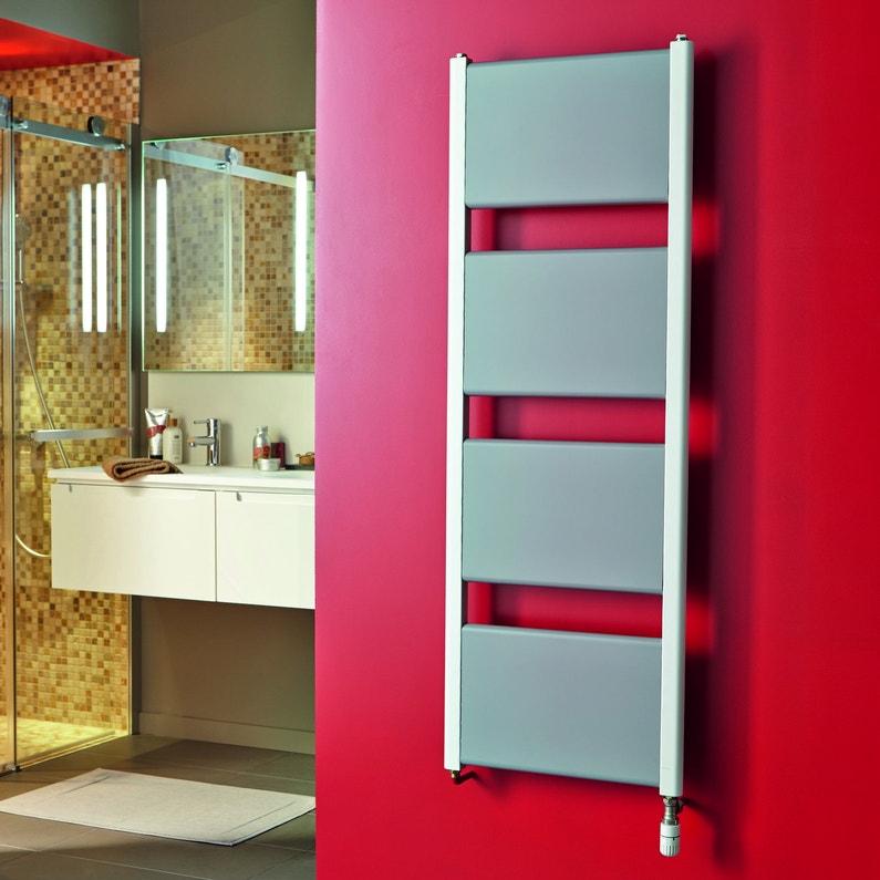 Un radiateur s che serviettes blanc pour r chauffer votre for Radiateur salle de bain leroy merlin