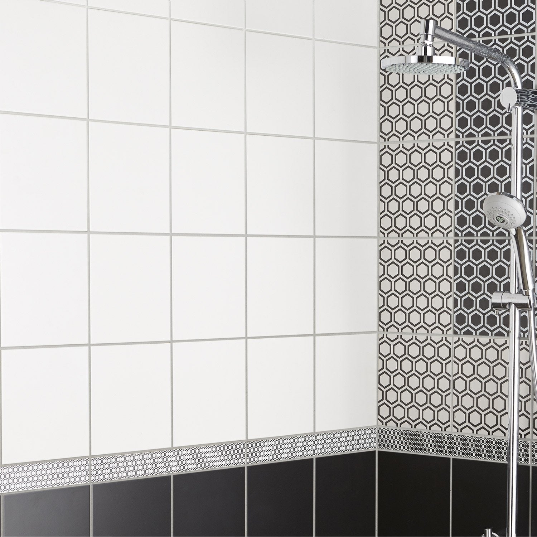 Carrelage mur forte blanc-blanc n°20 mat l.220 x L.220 cm, Astuce
