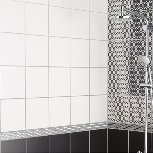 faence mur blanc mat astuce l20 x l20 cm - Faience Salle De Bain Blanche