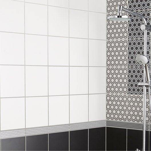 fa ence mur blanc mat astuce x cm leroy merlin. Black Bedroom Furniture Sets. Home Design Ideas