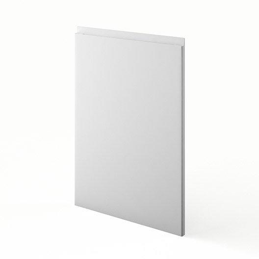 Porte de cuisine blanc graphic x cm leroy merlin for Porte 70 cm largeur