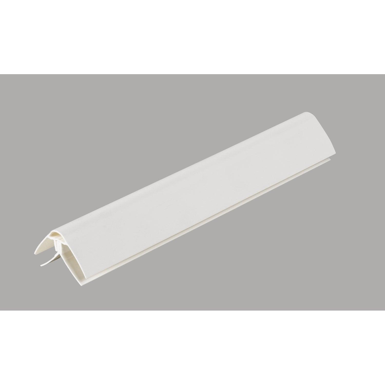 Moderne Profil de finition pour lambris pvc 4 x 2.5 cm, l. 2.6 m | Leroy QG-57