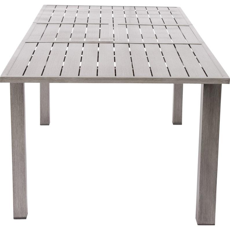 Table de jardin de repas NATERIAL Antibes rectangulaire gris 10 ...