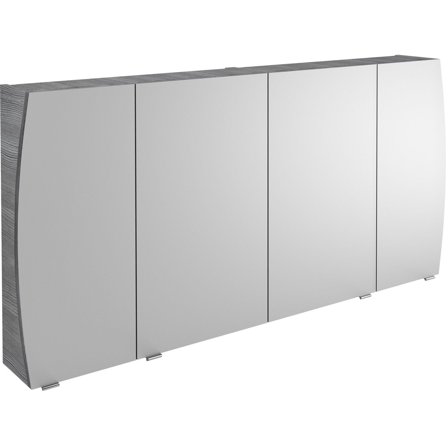 armoire de toilette l 140 cm gris structur image. Black Bedroom Furniture Sets. Home Design Ideas