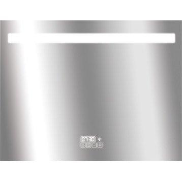 Miroir lumineux eclairage intégré, l.90 x H.70 cm Bluetooth