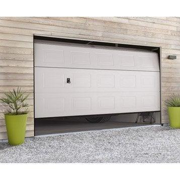 Porte de garage sectionnelle porte de garage motoris e - Leroy merlin porte garage ...