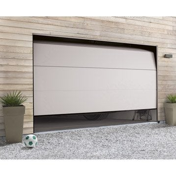Porte de garage sectionnelle motorisée HORMANN H.200 x l.300 cm