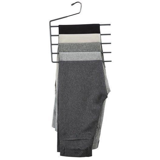 cintre 5 pantalons m tal gris x x p 0 6 cm leroy merlin. Black Bedroom Furniture Sets. Home Design Ideas