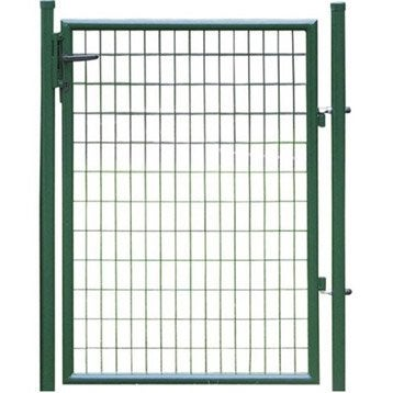 Portillon grillag portillon leroy merlin for Porte de jardin metallique