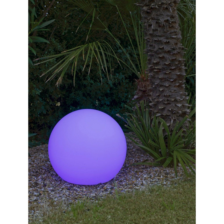 Boule solaire Buly diam 30cm changement de couleurs blanc ...