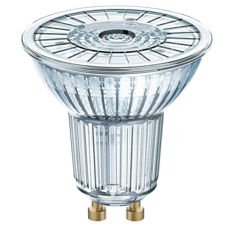 ampoule led gu10 4 6w 350lm quiv 50w compatible variateur 36 3000k lexman leroy merlin. Black Bedroom Furniture Sets. Home Design Ideas