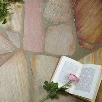 Opus en quartzite du brésil, rose Ep.15 mm