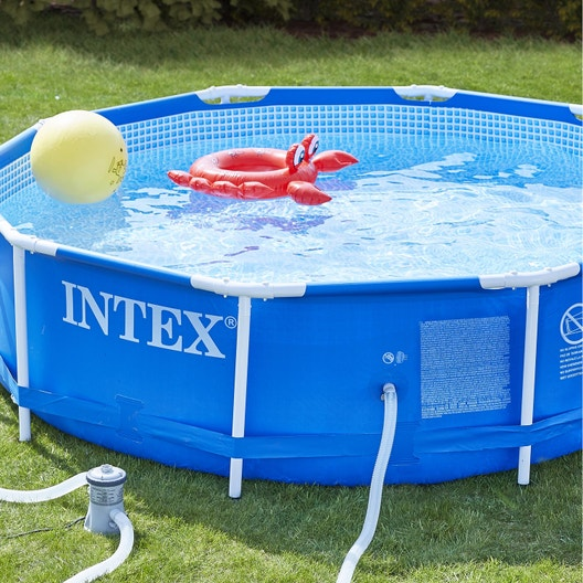 Piscine hors sol autoportante tubulaire m tal frame intex for Piscine hors sol intex 5 49