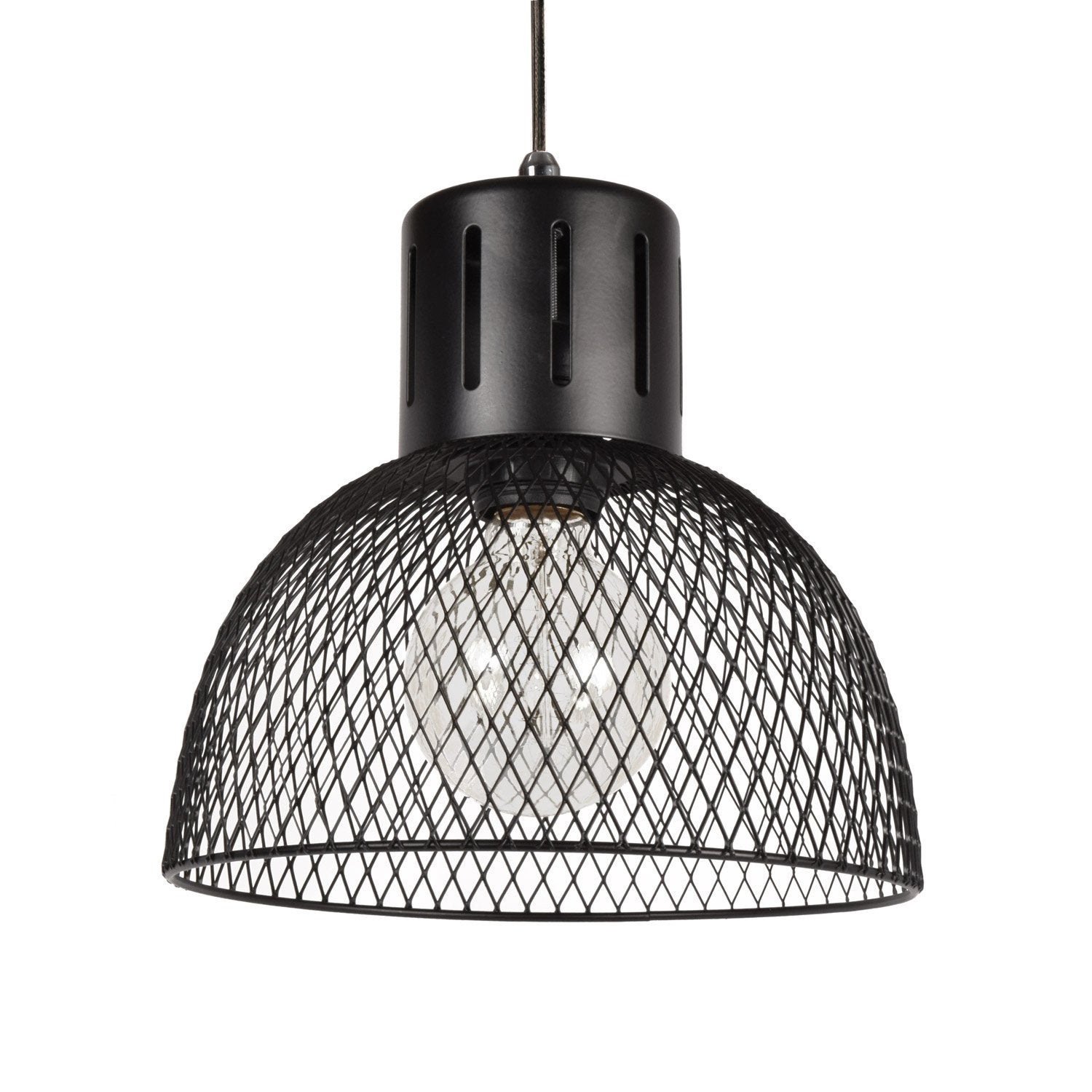 Suspension, e27 design Bedford métal noir 1 x 40 W SEYNAVE