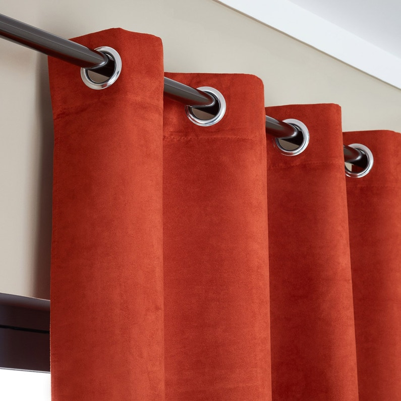 Rideau Tamisant Manchester Orange L 140 X H 280 Cm Inspire