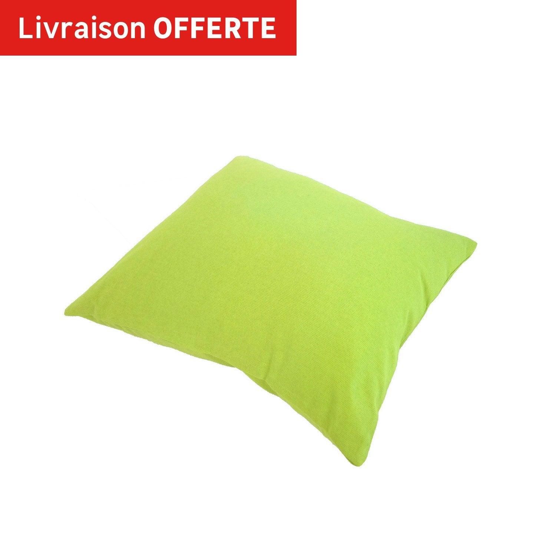 coussin sunny inspire vert botanique x cm leroy merlin. Black Bedroom Furniture Sets. Home Design Ideas