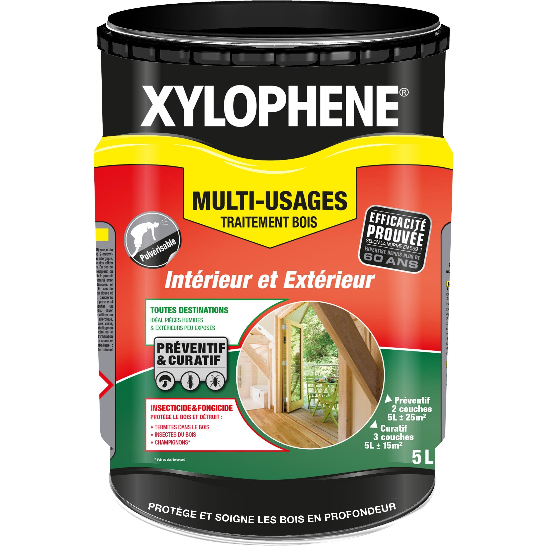produit traitement bois exterieur Traitement du bois multiusage XYLOPHENE 20 ans, 5 l