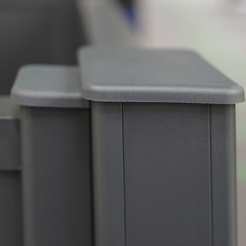 Closoir Pour Poteau Aluminium Klosup Blanc H230 X L25 X P25 Cm