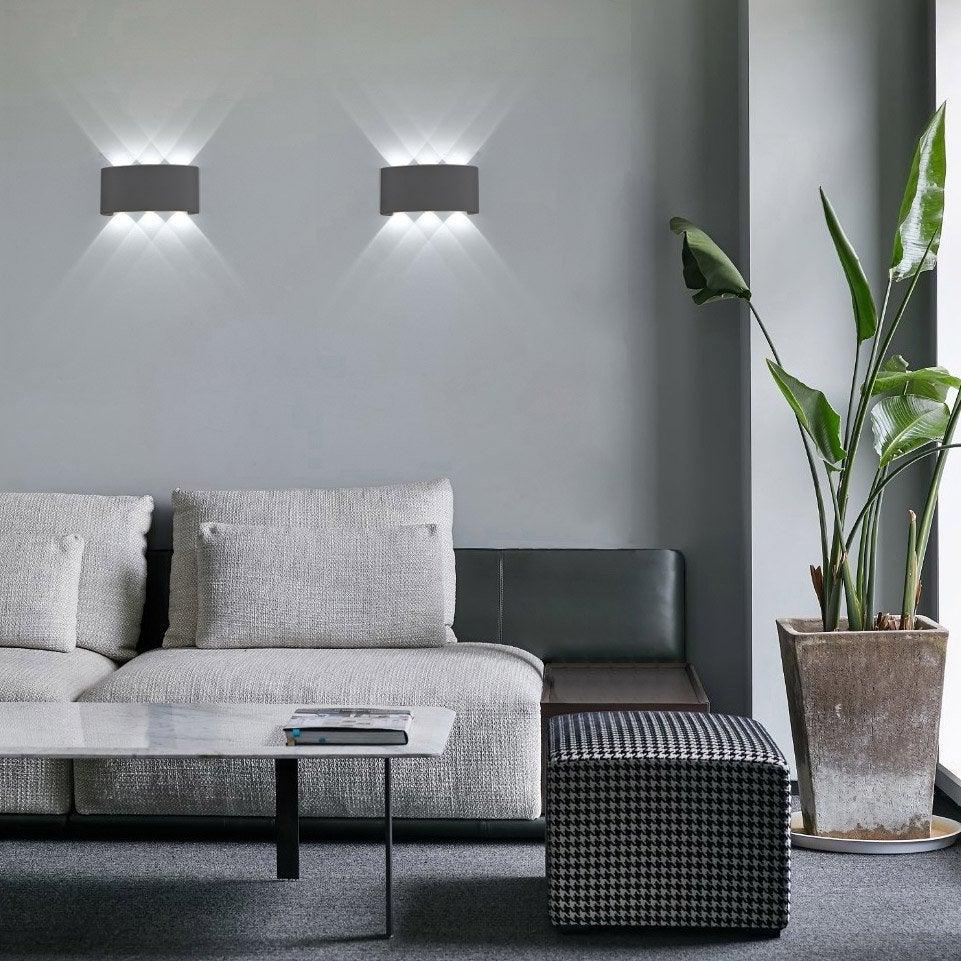 Applique, design aluminium noir led intégrée LUSSIOL Squeezy