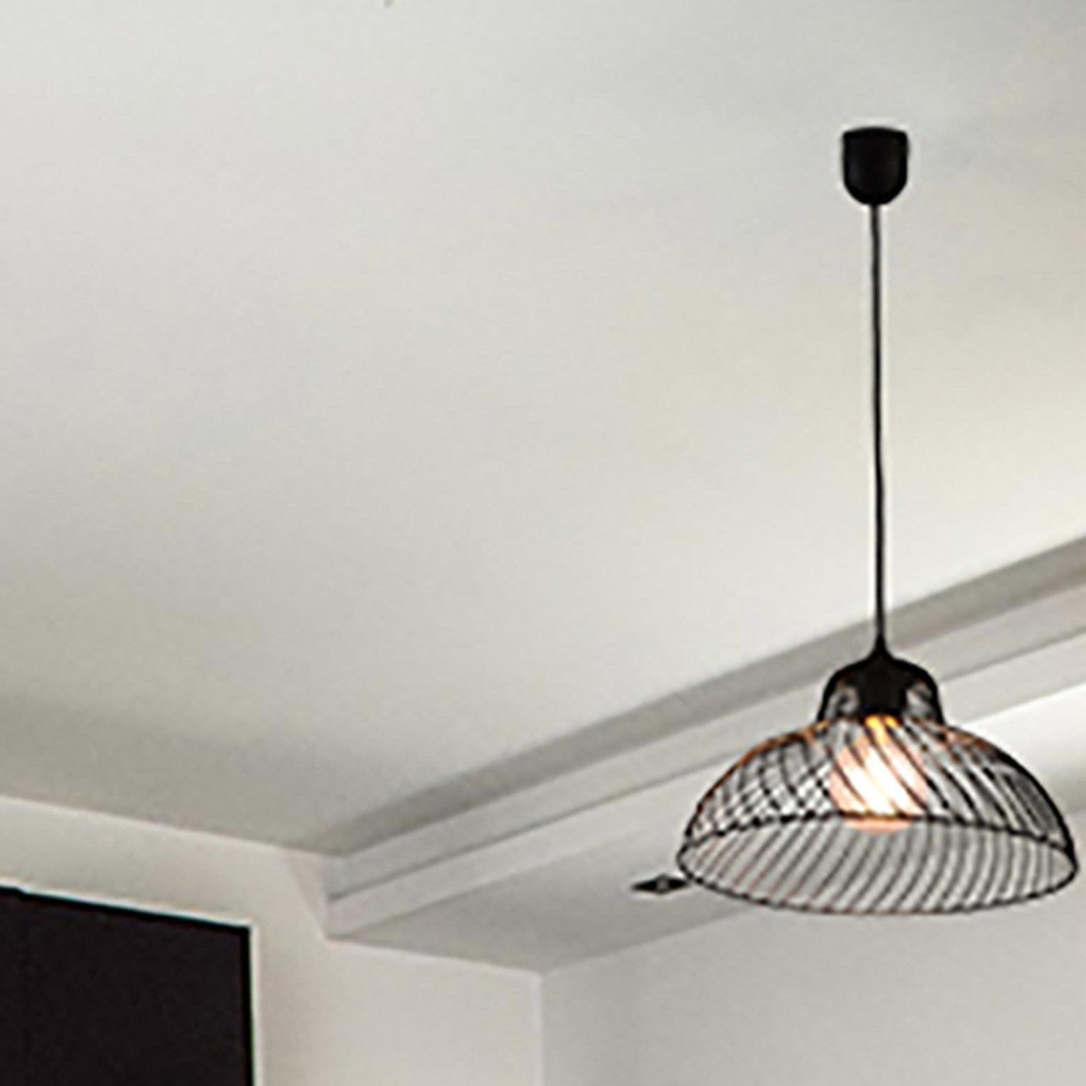 Suspension, industriel métal noir BOUDET Simars 1 lumière(s) D.30 cm
