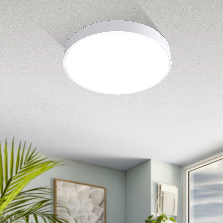 Plafonnier, design aluminium blanc led intégrée EGLO Acces D.30 cm