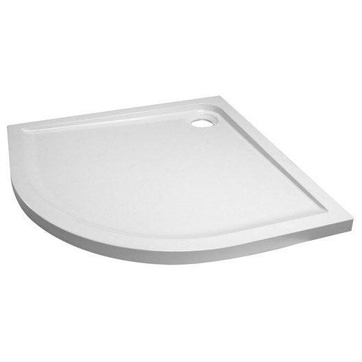 receveur de douche hoga blanc standard r sine 1 4 de cercle 90 x 90 cm leroy merlin. Black Bedroom Furniture Sets. Home Design Ideas