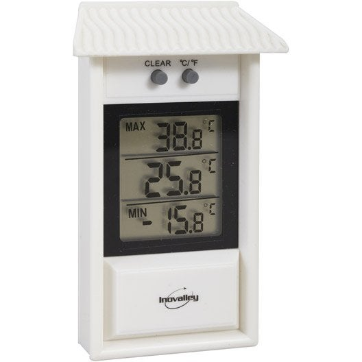 Thermom tre int rieur ou ext rieur inovalley 312elb for Thermometre interieur exterieur