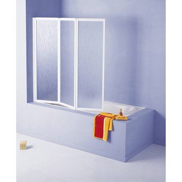 Pare-baignoire 3 volets acrylique granité, G03