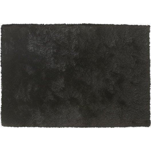 tapis shaggy zelia noir 170x120 cm leroy merlin. Black Bedroom Furniture Sets. Home Design Ideas