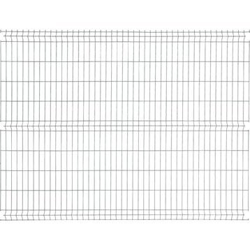 Panneau grillagé NATERIAL vert H.1.73 x L.2.48 m, maille H.200 x l.55 mm