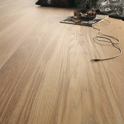 parquet contrecoll a ro largeur xxl ch ne blanchi vitrifi leroy merlin. Black Bedroom Furniture Sets. Home Design Ideas