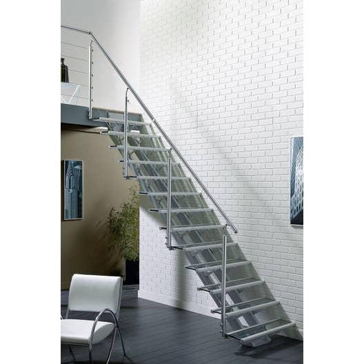 escalier droit escatwin structure aluminium marche verre. Black Bedroom Furniture Sets. Home Design Ideas