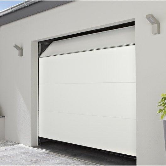 Porte de garage sectionelle motoris e chypre rainures - Telecommande porte de garage la toulousaine ...