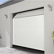 Porte de garage sectionelle motorisée Chypre, rainures horizontales, 200x240 cm