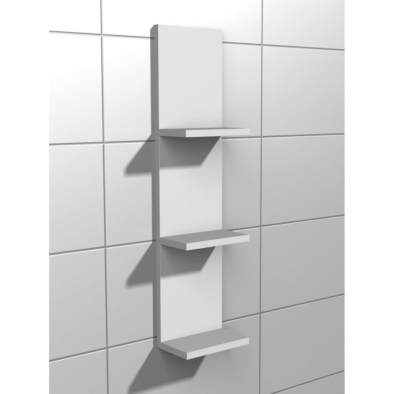 etag re de wc x x cm blanc coin d 39 o leroy merlin. Black Bedroom Furniture Sets. Home Design Ideas