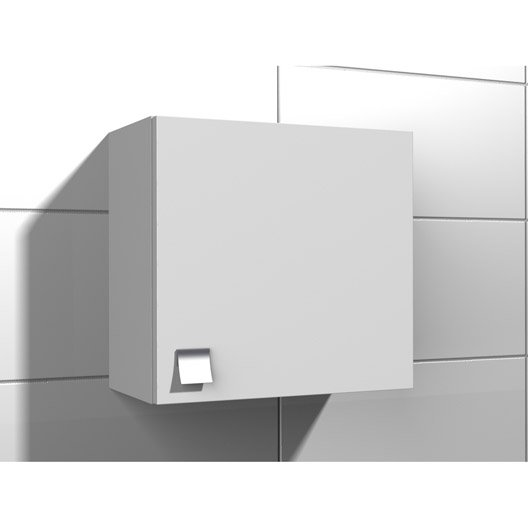 Armoire de wc x x cm blanc coin d 39 o - Meuble wc leroy merlin ...