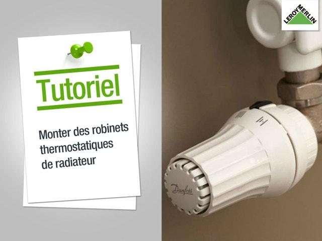 T te de robinet thermostatique droit femelle femelle - Comment fonctionne un robinet thermostatique ...
