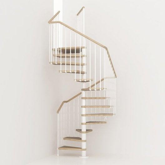Escalier colima on carr cube structure m tal marche bois leroy merlin - Dimension escalier colimacon ...