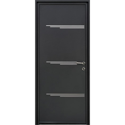 porte d 39 entr e sur mesure en aluminium eliade excellence leroy merlin. Black Bedroom Furniture Sets. Home Design Ideas