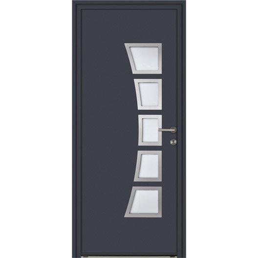 Porte d 39 entr e sur mesure en aluminium naora excellence leroy merlin - Protege porte d entree ...