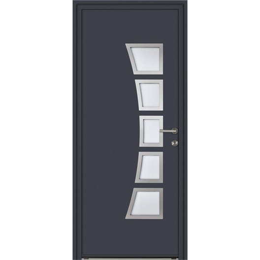 porte d 39 entr e sur mesure en aluminium naora excellence leroy merlin. Black Bedroom Furniture Sets. Home Design Ideas