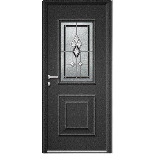 Porte D 39 Entr E Sur Mesure En Aluminium Utah Vitrail Artens