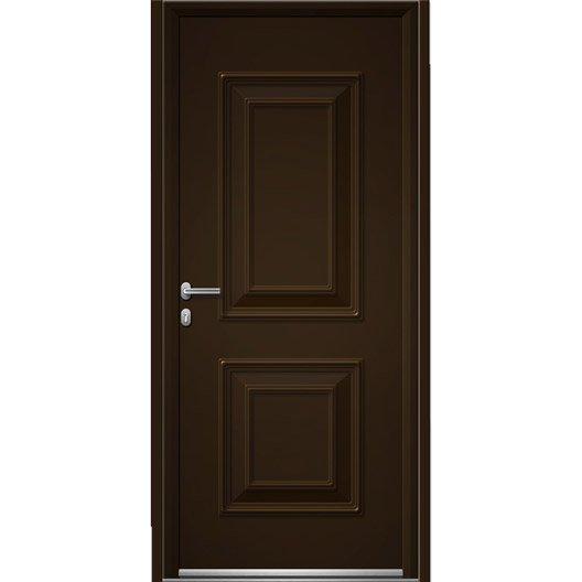 Porte d 39 entr e sur mesure en aluminium utah pleine artens leroy merlin - Leroy merlin porte entree pvc ...