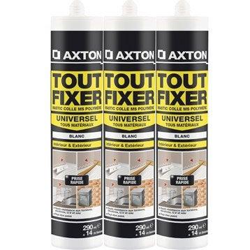 Colle mastic Tout fixer AXTON, 290 ml