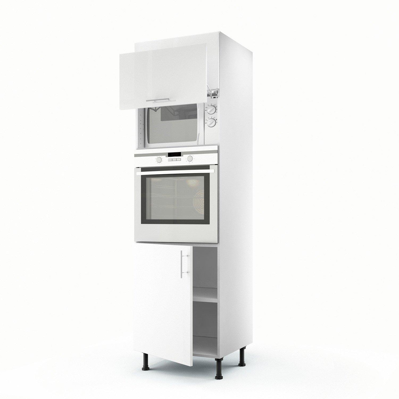 meuble de cuisine colonne blanc 3 portes rio x x cm leroy merlin. Black Bedroom Furniture Sets. Home Design Ideas