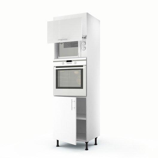 Meuble de cuisine colonne blanc 3 portes rio x - Colonne de cuisine 60 cm ...